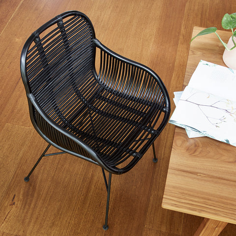 Sasha Dining Chair - BLACK