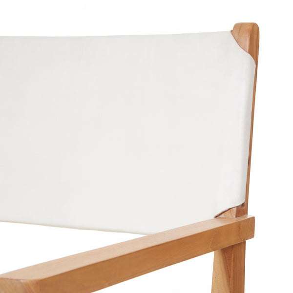 Sam Dining Arm Chair - Flat - WHITE