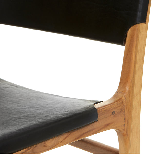 Olivia Dining Chair - Flat - BLACK