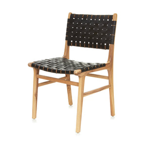 Olivia Dining Chair - Woven - BLACK - LAST ONE