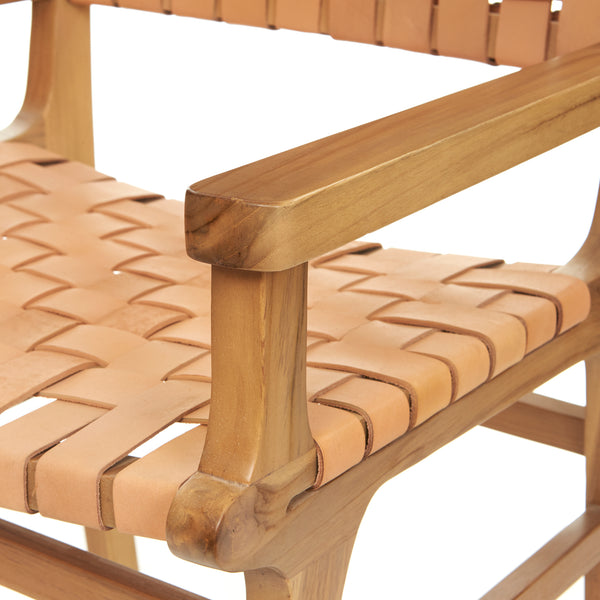 Sam Dining Arm Chair - Woven - NATURAL