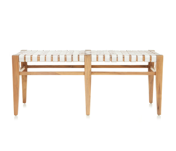 Logan Long Bench - WHITE