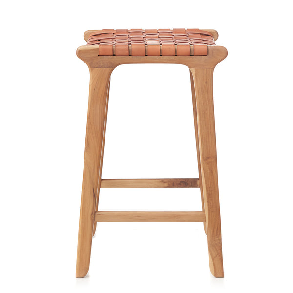 Barton Bar Stool - Woven - TAN