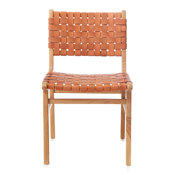 Olivia Dining Chair - Woven - TAN