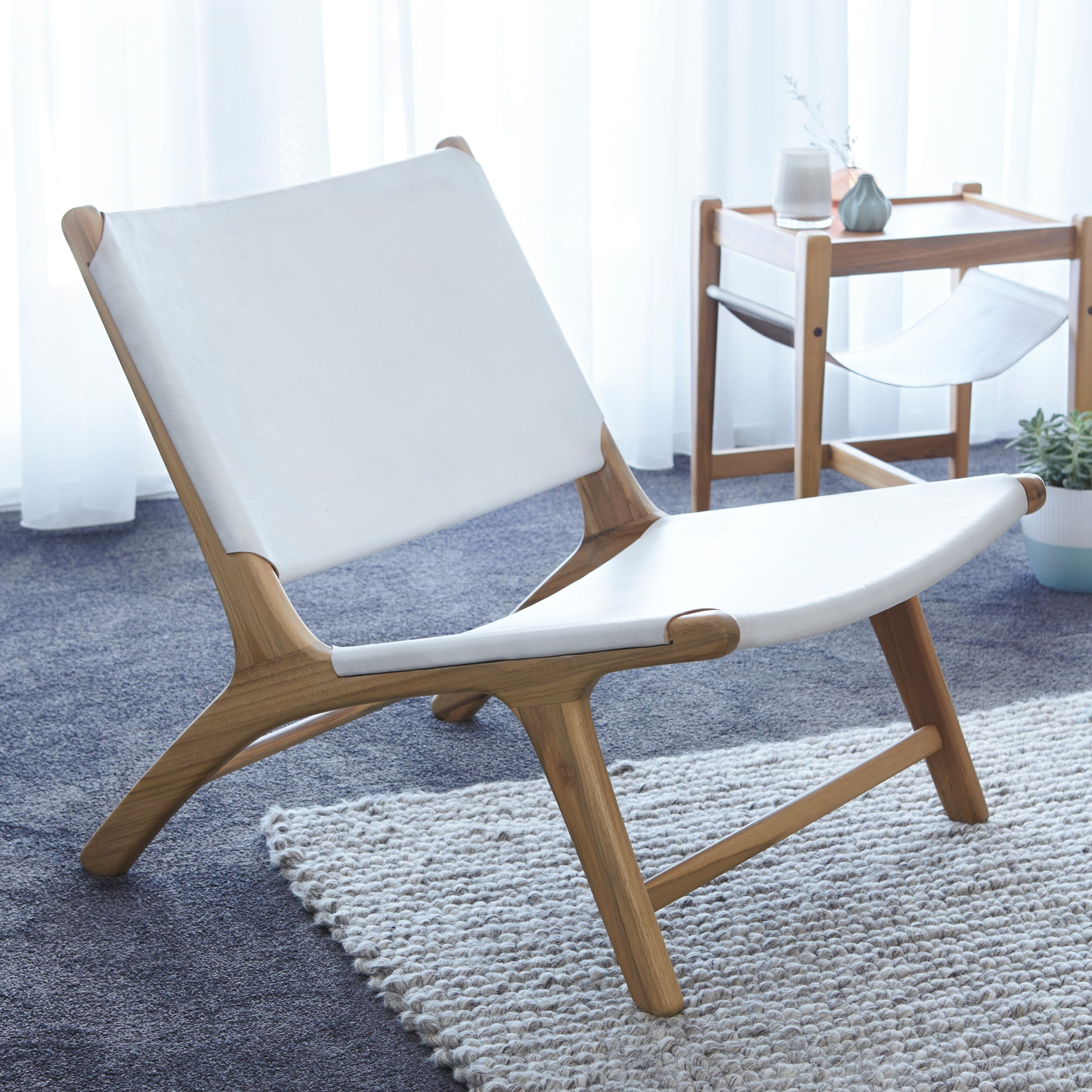 Sienna Low Chair - WHITE