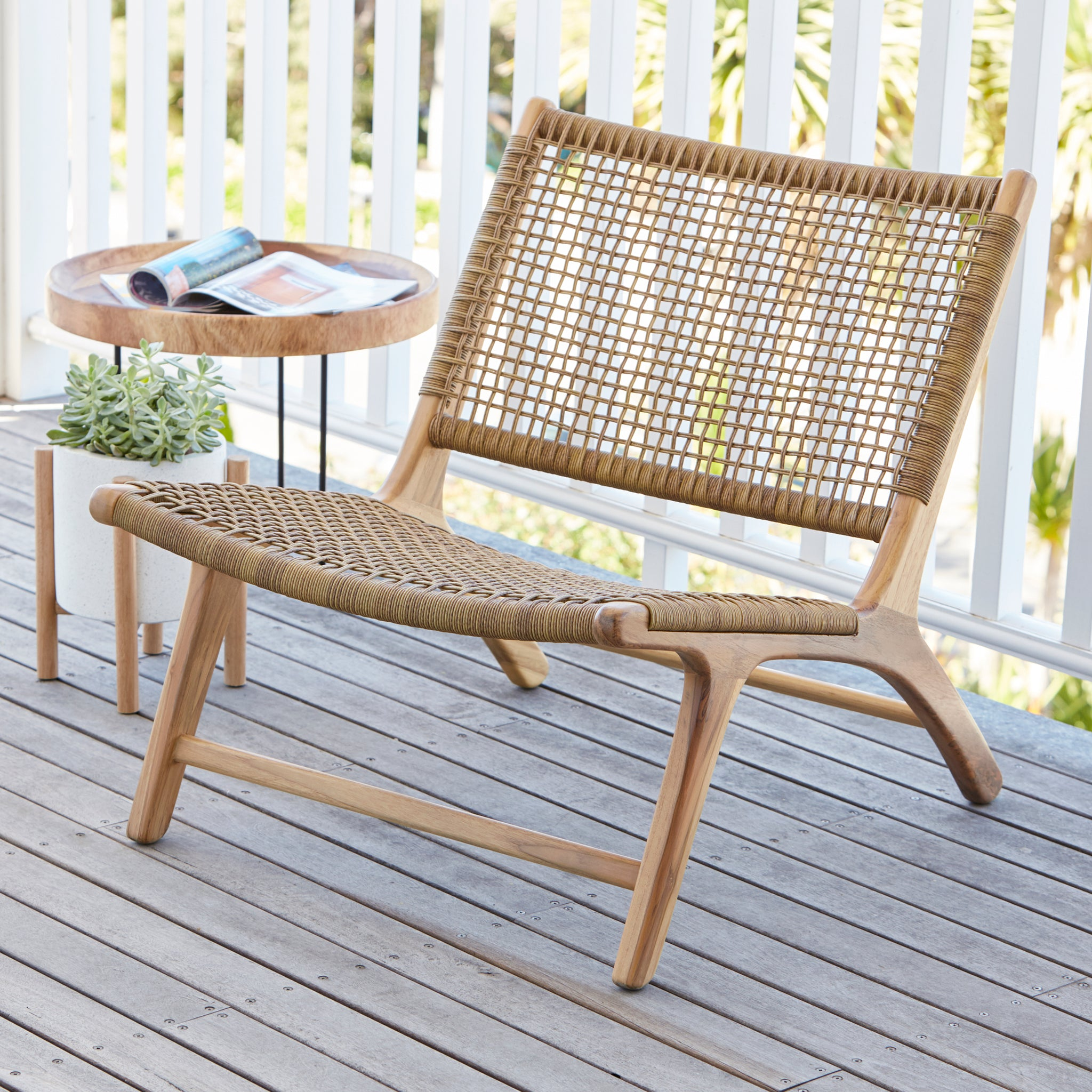 Sienna Low Chair   SYNTHETIC RATTAN