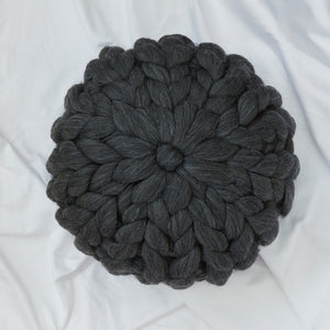 Chunky Wool cushion - BLACK MARLE