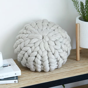 Chunky Wool cushion - OATMEAL