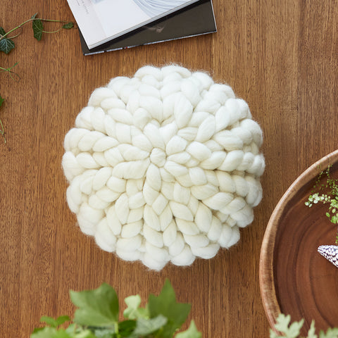 Chunky Wool cushion - IVORY