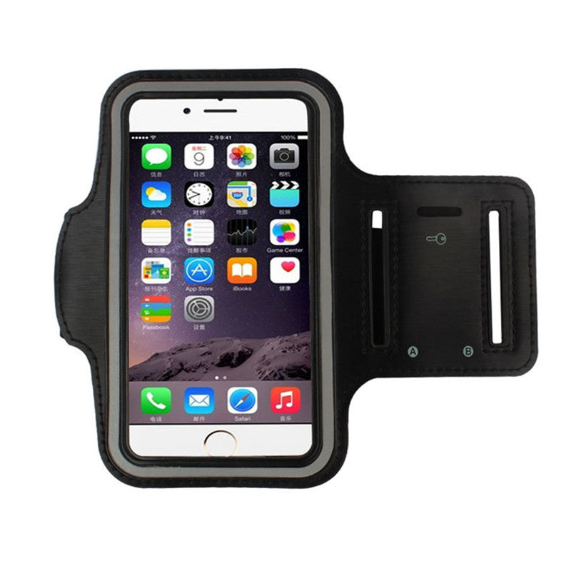 2017 Phone cases Gym Running Sport Arm Band Cover Case for iphone for Samsung IOS Android Cell phones Coque Capa Black