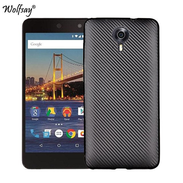Phone Case For Google Android One General Mobile 4G Case New Carbon Fiber Soft TPU Cover for Google Android One GM4 Matte Case