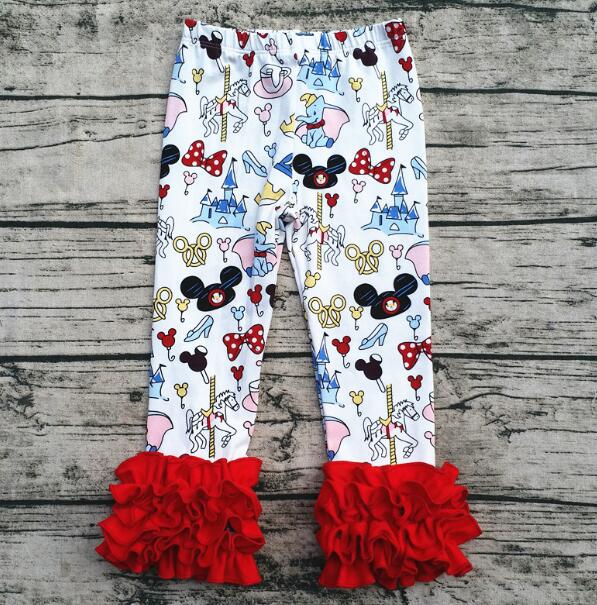 946e80753bb066 wholesale fashion kids clothes ruffle mickey cotton icing leggings boutique  fall pants ...