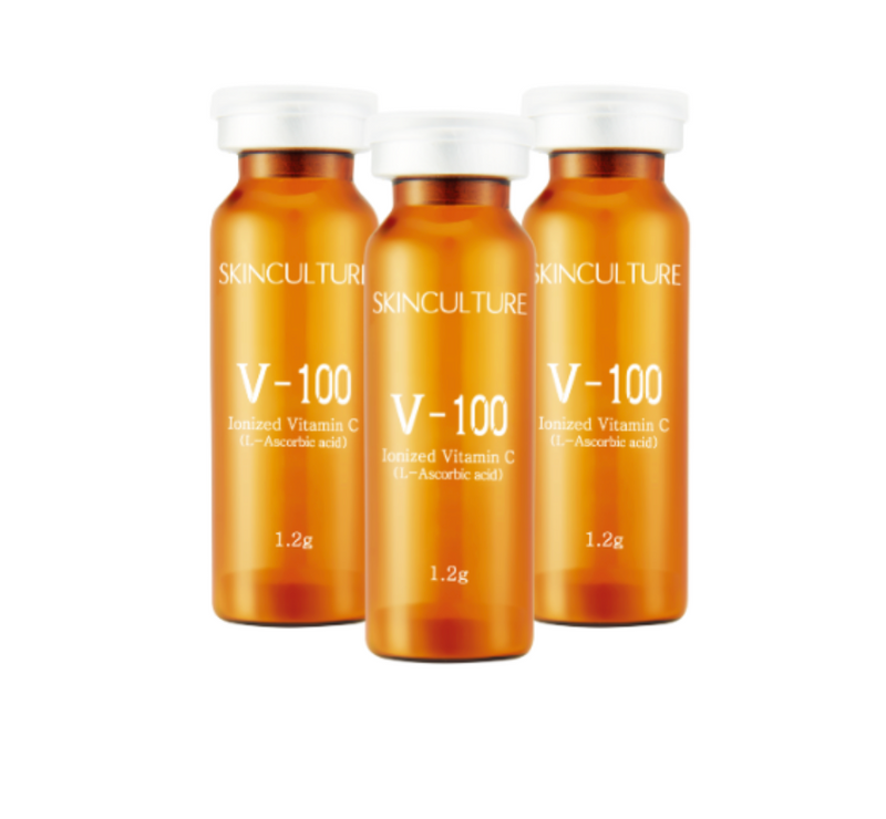 V-100 IONIZED VITAMIN POWDER (1.2G X 5 VIALS) BEST WITH IONTOPHORESIS/ELECTROPORATION (COOL-PLUS MACHINE)