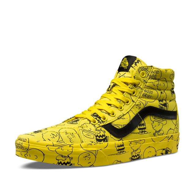 fcd7d582b7 Vans SK8-HI Classic Unisex High-top Sneakers PEANUTS Snoopy Cartoon  Athletic Shoes Mens