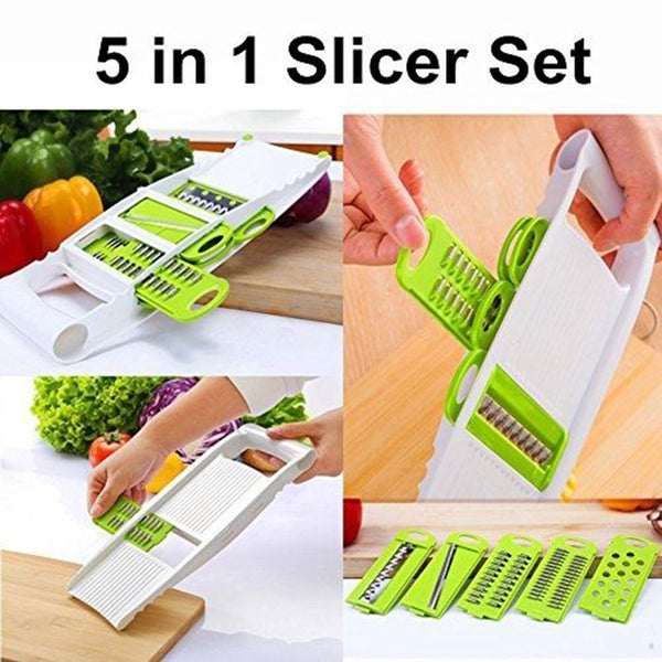 Creative 5 in 1 Adjustable Slicing Knives Mandoline Slicer