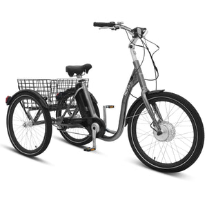 "E-SCAPE 24"" 3-Speed E-Trike Grey"