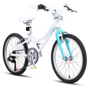 "XLITE Girls 20"" 7-Speed White/Teal"