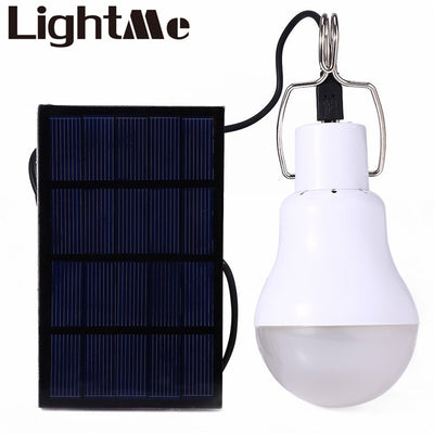 Rechargeable 15W LED Light Bulb w/ External Solar Panel