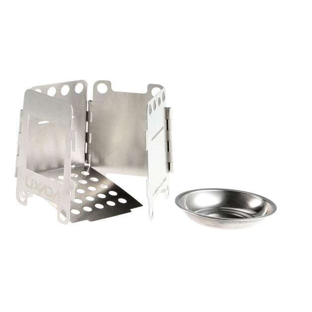 Lixada Pocket Stainless Steel Folding Camping Stove
