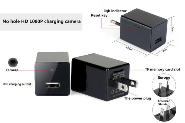 1080P Spy IP USB Charger Camera