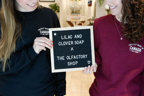 local laundry olfactory shop lilac and clover