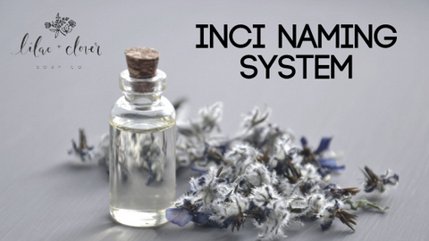 INCI naming system for cosmetics
