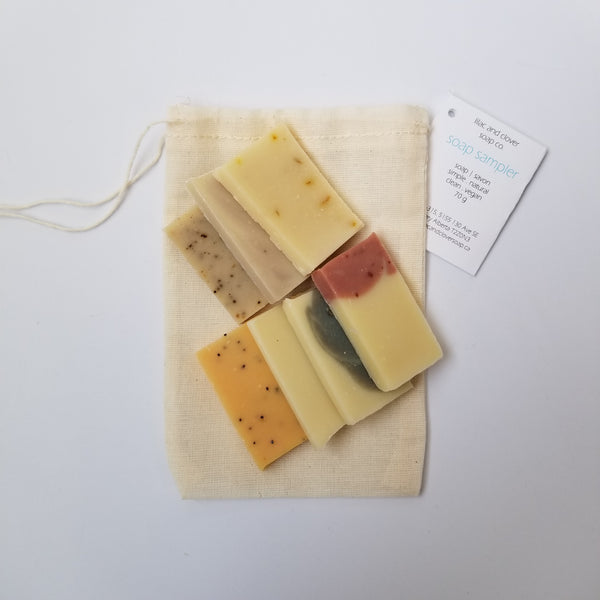 Natural vegan soap sampler made in Calgary