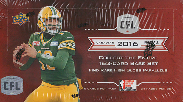 2016 Upper Deck CFL Football Hobby Box