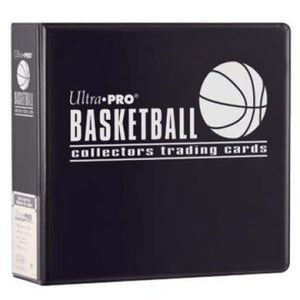 "Ultra-Pro 3"" D-Ring Basketball Binder (Black)"