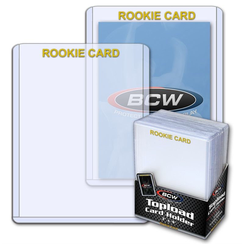 BCW Rookie Card Top Loaders