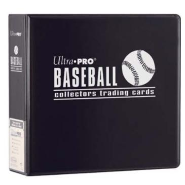 "Ultra-Pro 3"" D-Ring Baseball Binder (Black)"