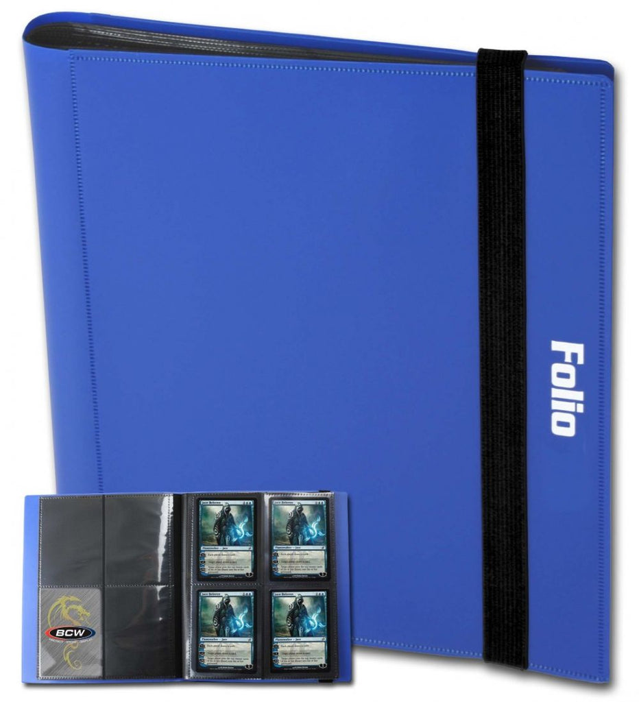 BCW Card Folio 4-Pocket Album - Blue