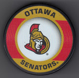 Ottawa Senators Retro Hockey Puck