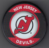 New Jersey Devils Retro Hockey Puck
