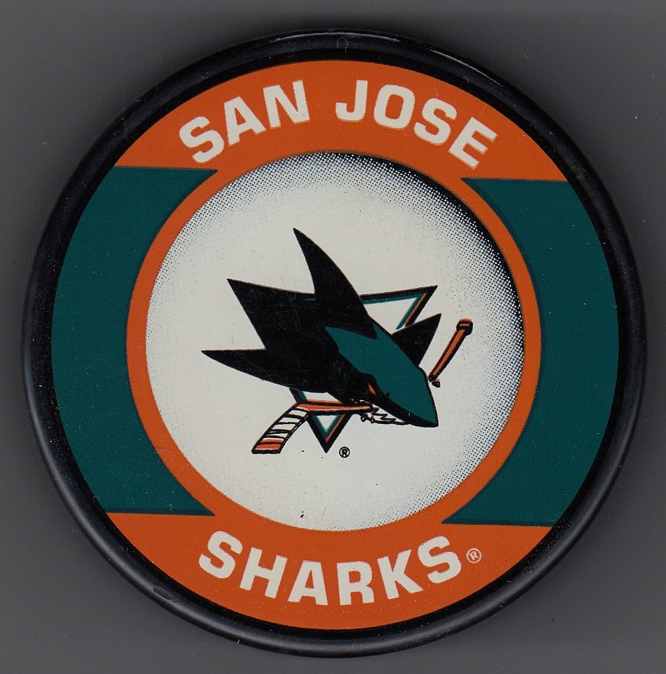 San Jose Sharks Retro Hockey Puck