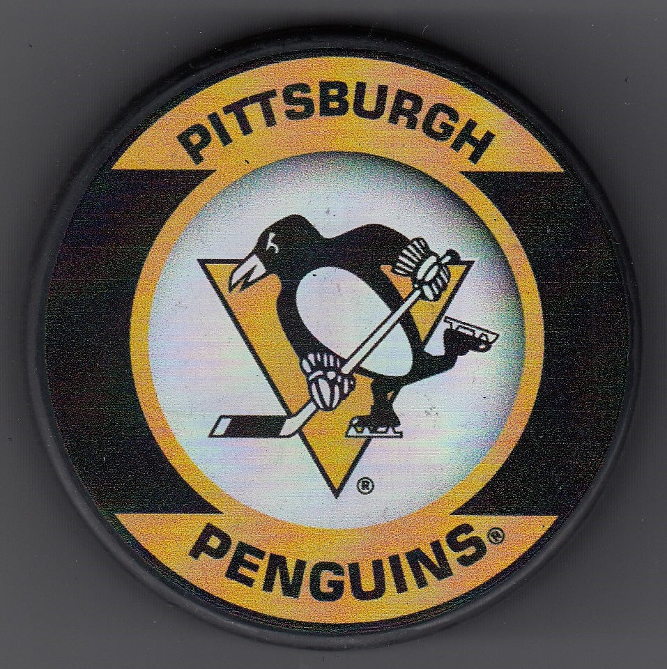 Pittsburgh Penguins Retro Hockey Puck