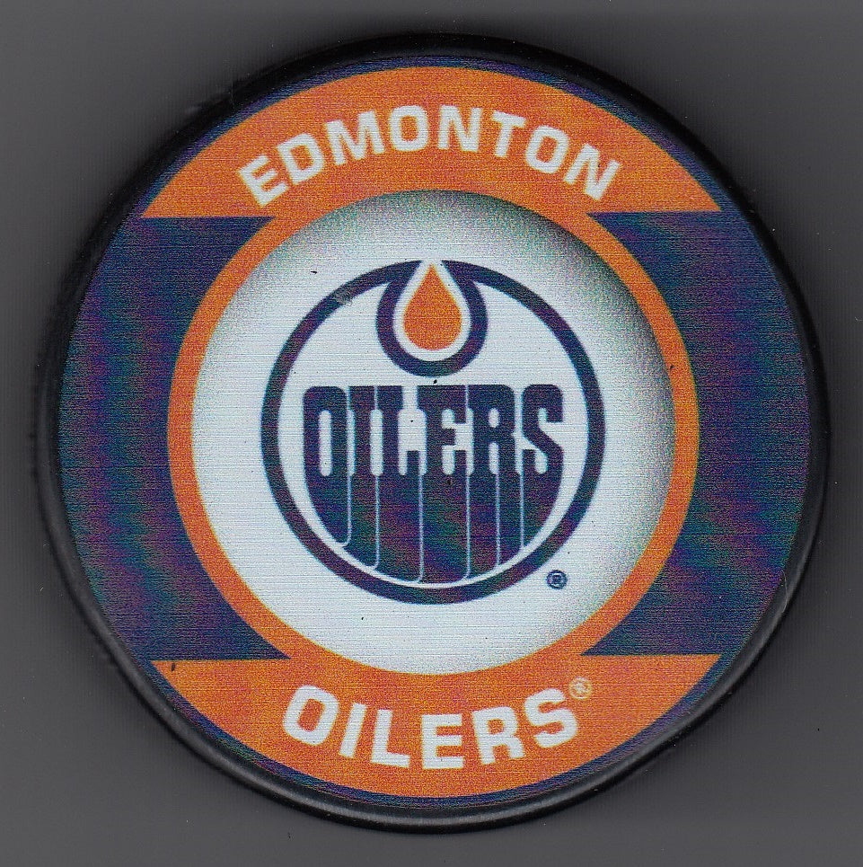Edmonton Oilers Retro Hockey Puck