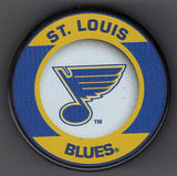 St. Louis Blues Retro Hockey Puck