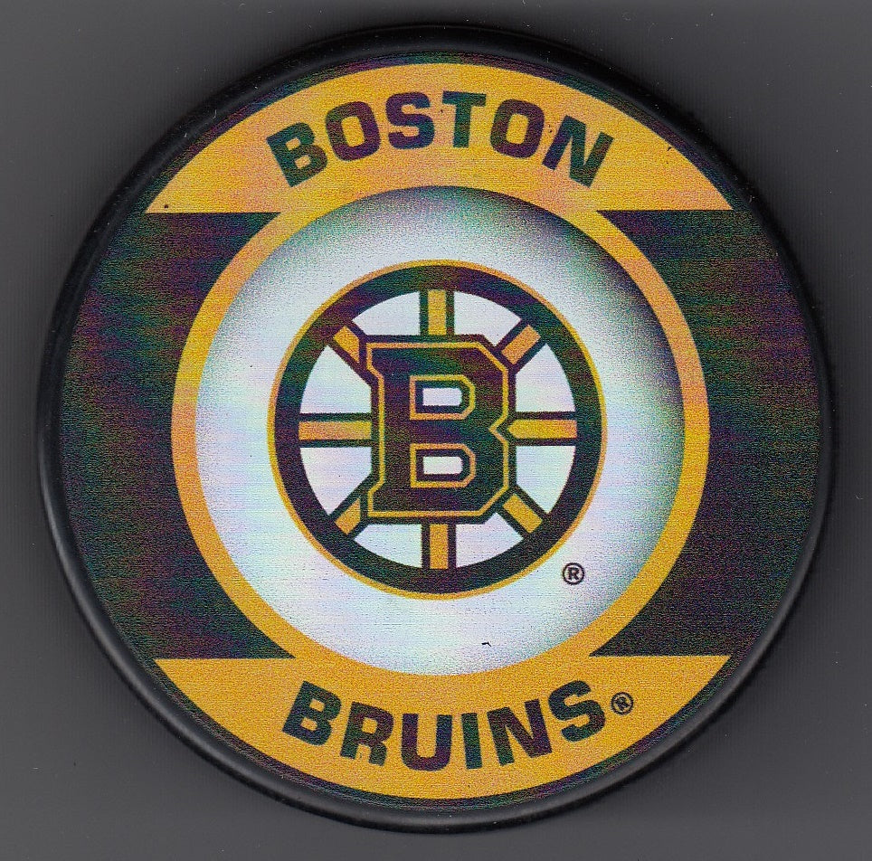 Boston Bruins Retro Hockey Puck
