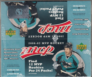2006/07 Upper Deck MVP Hockey Retail Box