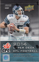 2014 Upper Deck CFL Football Hobby Box