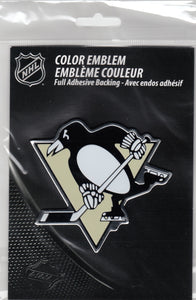 Pittsburgh Penguins 3-D Chrome Auto Emblem