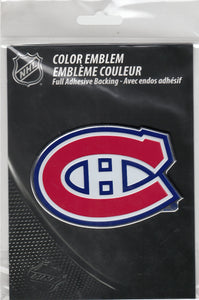 Montreal Canadiens 3-D Chrome Auto Emblem