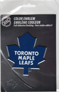 Toronto Maple Leafs 3-D Chrome Auto Emblem