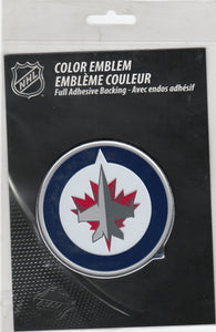 Winnipeg Jets 3-D Chrome Auto Emblem