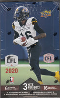 2020 Upper Deck CFL Football Hobby Box