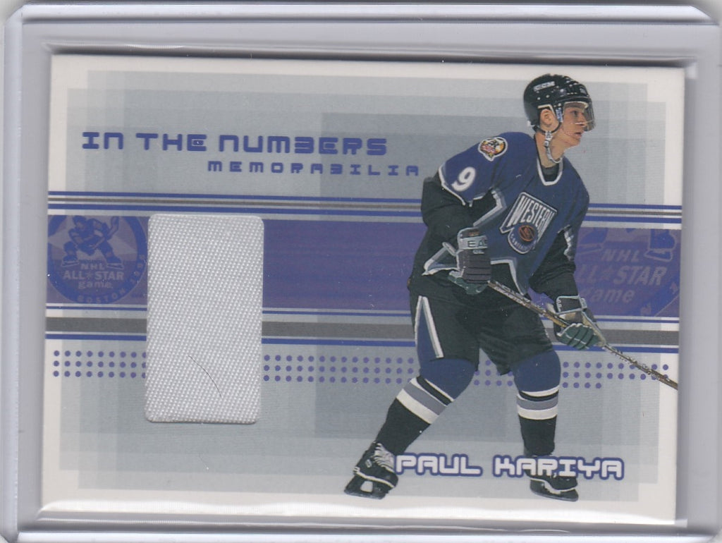 PAUL KARIYA 2000/01 Be A Player Memorabilia In The Numbers Patch #N-31