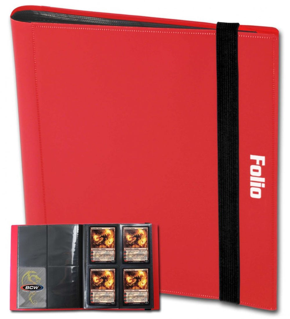 BCW Card Folio 4-Pocket Album - Red