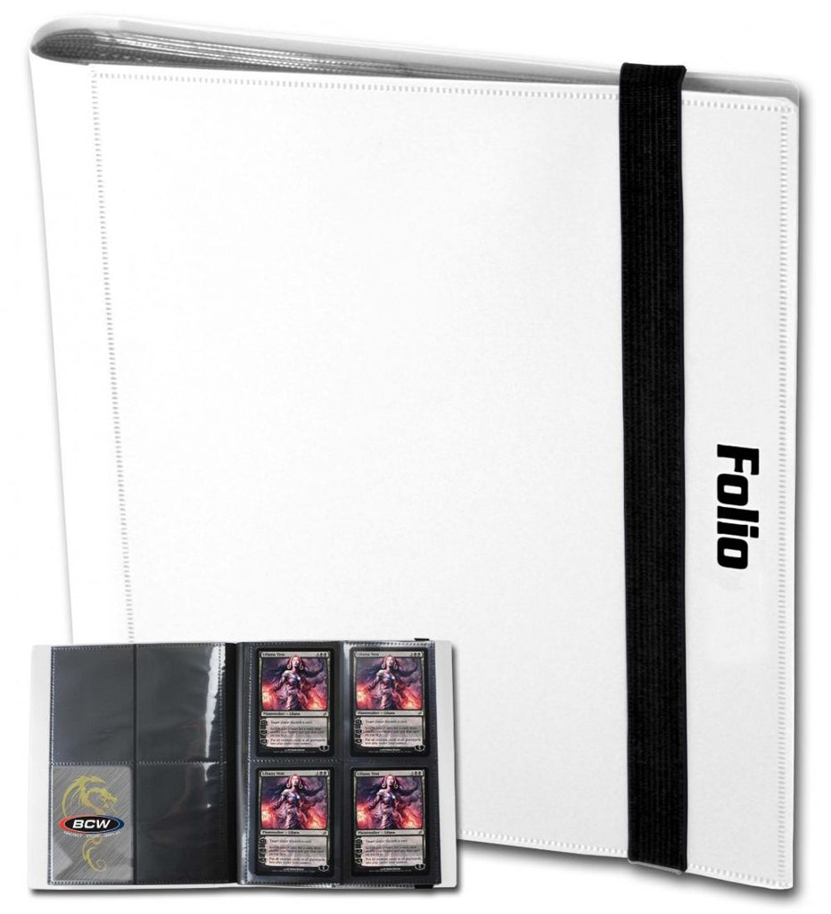 BCW Card Folio 4-Pocket Album - White
