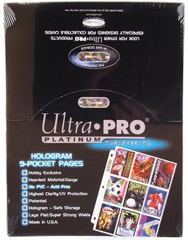 Ultra-Pro Platinum 9-Pocket Pages (100 Count Box)